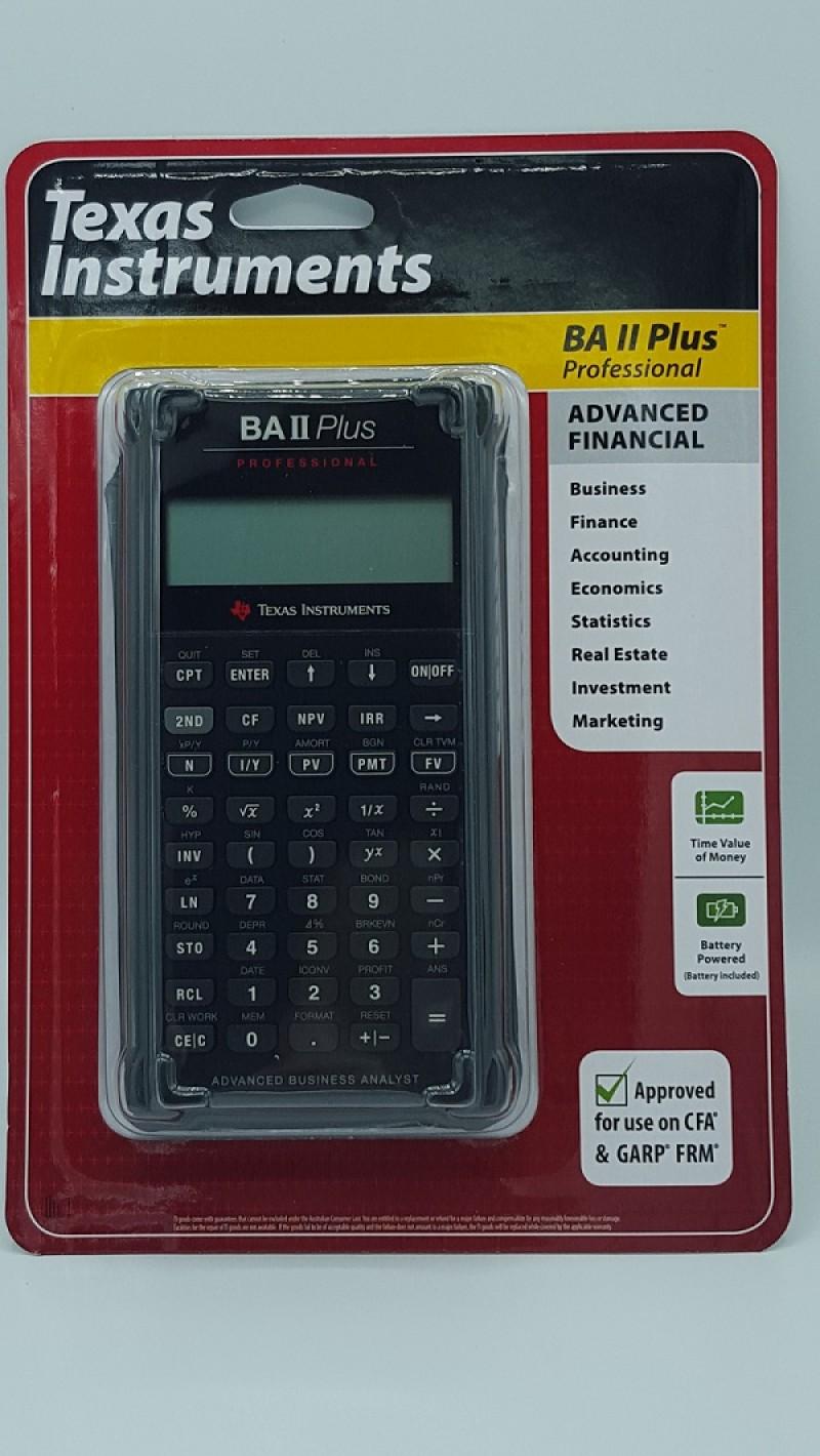 เครื่องคิดเลขทางการเงิน TI BA II Plus Professional