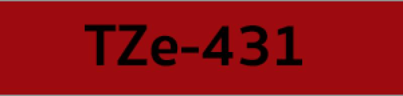 เทปพิมพ์ฉลาก Brother TZE-431 ชนิดเคลือบพลาสติก