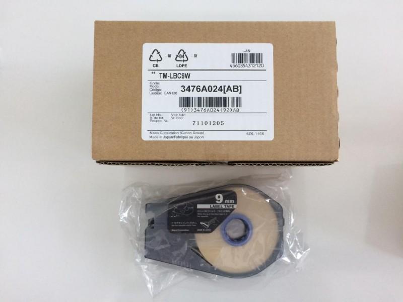 เทป Canon Label Tape Cassette 9mmx30m (WHITE)