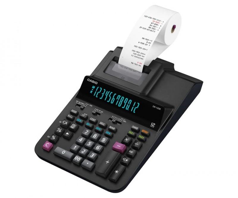 เครื่องคิดเลข Casio DR-120R-BK ฟรีกระดาษคิดเลข 2 ม้วน