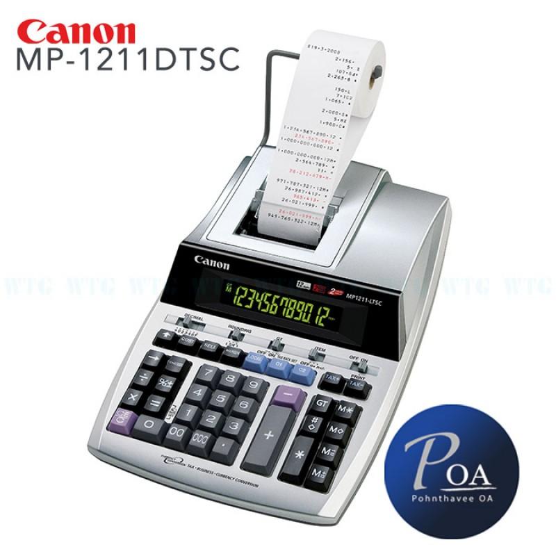 เครื่องคิดเลข Canon MP1211-LTSC แถมกระดาษ 2 ม้วน! **ส่งฟรี**