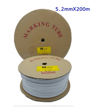 ปลอกสายไฟ BS Tech PVC Marking Tube 5.2mm.x 200m.