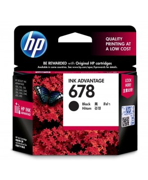 ตลับหมึกอิงค์เจ็ท HP-678 Black (CZ107AA)