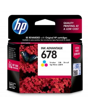 ตลับหมึกอิงค์เจ็ท HP-678 Tri Color(CZ108AA)