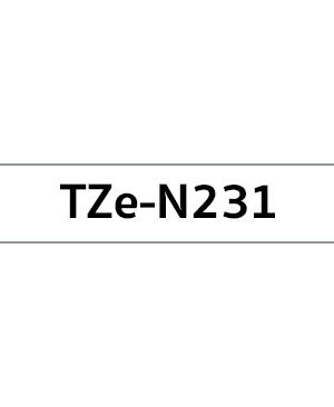เทปพิมพ์ฉลาก Brother TZE-N231 ชนิดไม่เคลือบพลาสติก