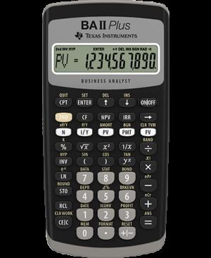 เครื่องคิดเลขทางการเงิน TI BA II Plus