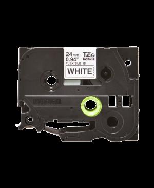 เทปพิมพ์ฉลาก Brother TZE-FX251 Black on White Flexible-ID, 24mm wide