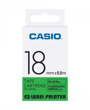 เทปพิมพ์ฉลาก Casio XR-18FGN